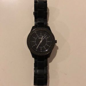 Black fossil watch
